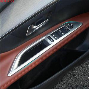 Автомобильный Стайлинг BJMYCYY, подходит для 2017 Peugeot 3008, защитная хромированная отделка, наклейки для украшения интерьера