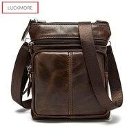 2016 New Genuine Leather Men bags Fashion Brand Designer Handbags Shoulder Vintage Retro Cow Bags Men Messenger Bags Briefcase