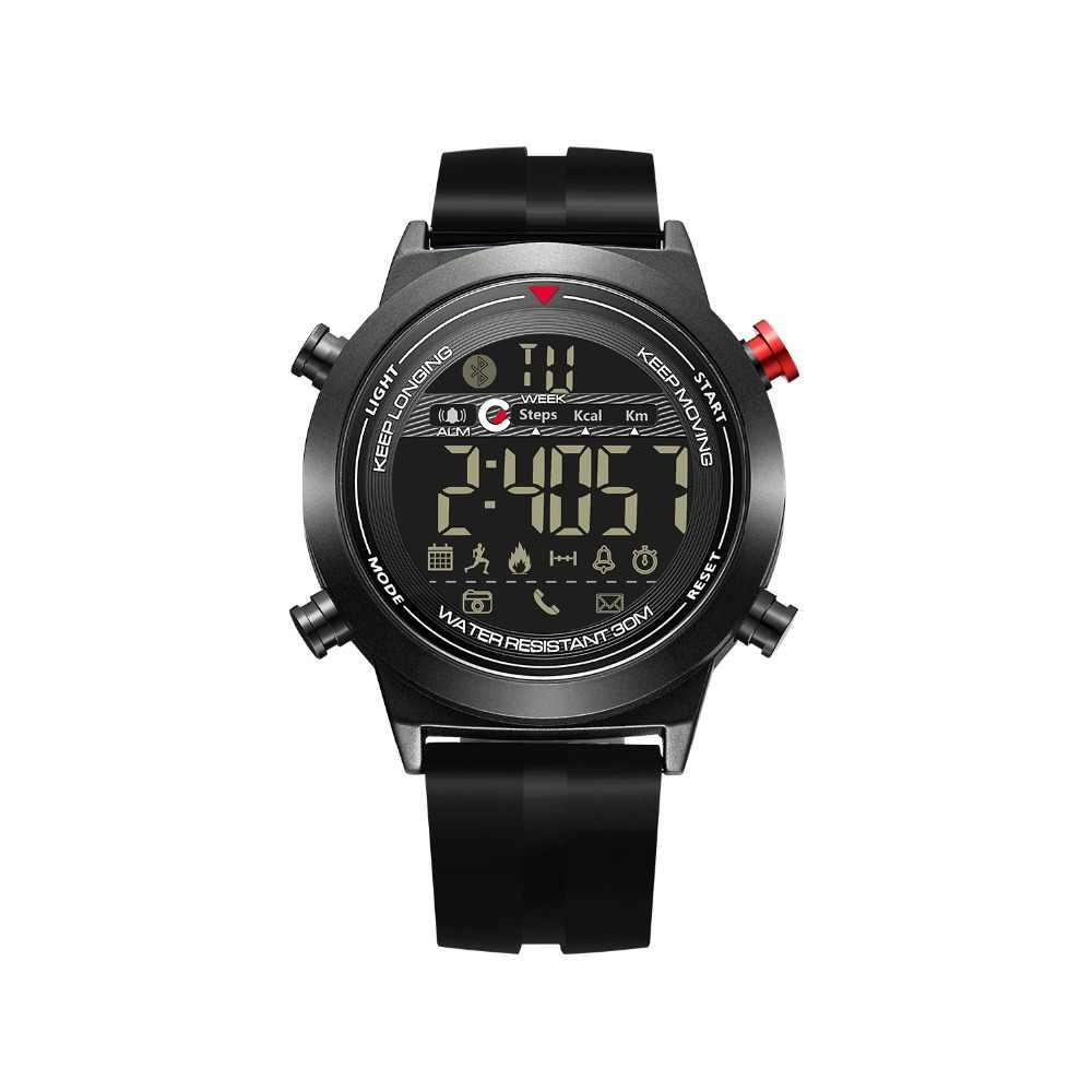 JeiSo NOVO Relógio Inteligente Homens Eletrônica Digital Sport Watch Smartwatch Bluetooth Pedômetro Cronômetro À Prova D' Água Relogio masculino