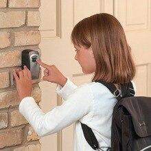 Настенный кодовый ключ, коробка с замком, 4 цифры, комбинированный пароль, органайзер для ключей, коробка для домашней безопасности, сплав, коробка для ключей, хит