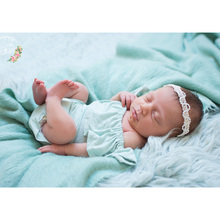 D&J New Baby Rompers Lovely Infant Jumpsuit Lotus leaf Sleeve Boys Girls Clothes for Newborn Photography Props