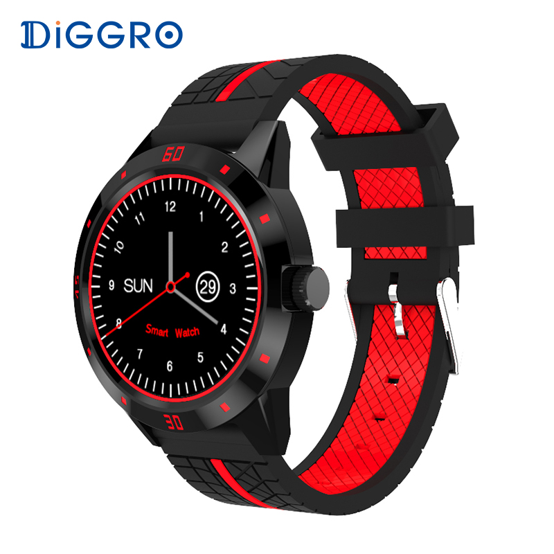 Diggro DI02 Montre Smart Watch Moniteur de Fréquence Cardiaque Deux Côté Sangles Bluetooth Téléphone MTK2502C Sports Business Smartwatch pour Android IOS