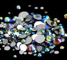 Olivine AB Color ss3,ss4,ss5,ss6,ss8,ss10,ss12,ss16,ss20,ss30 Flat Back Crystal Non Hotfix Nail Art Glue On Rhinestones