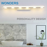 Personality Mirror light led bathroom wall lamp mirror glass waterproof anti fog brief modern stainless steel cabinet led light