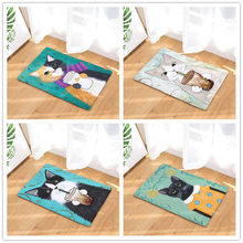 Cute Cat Style-Cetak Karpet Anti-Slip Tikar Outdoor Rugs-Pintu Depan Tikar 40X60or50x80cm(China)