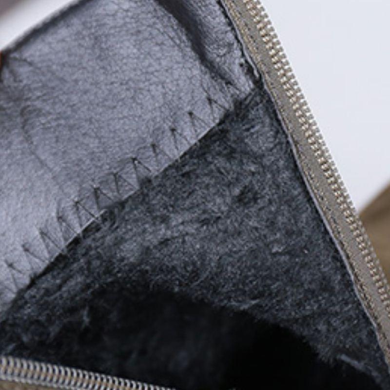 Éclat Élégante 39 vert Noir Zipper Bout À Chaussures 35 gris Femme Taille Bottes Rond Dames Mode Hauts Cheville Talons Fizaizifai PS1x4qP