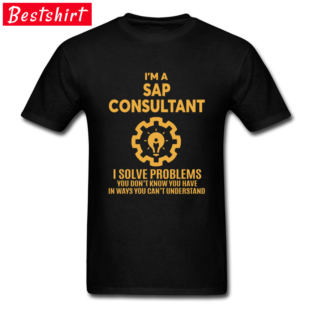 Creative Design T Shirt For Men SAP CONSULTANT Letter Quotes Headline Men Tshirts Father's Day Popular Cotton Tops Tees New