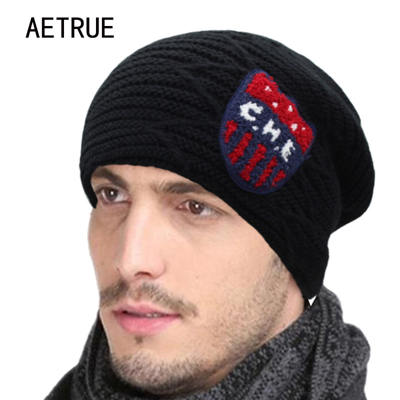 New Men Winter Hat Beanies Knitted Hat Women Bonnet Caps Baggy Brand Thicken Fur Warm Winter Hats For Men Famous Skullies Beanie 2016 thicken beanies men s winter hat caps skullies bonnet hats for men women beanie warm baggy knitted cap headgear for women
