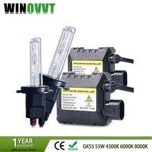 H7 комплект ксенонового балласта 55 W тонкий HID ксеноновые лампы белого цвета комплект для замены H7 4300 k 6000 k 8000 k
