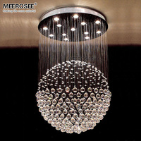 New Arrival Crystal chandelier Round Ball shape Crystal light fixture lamp lustre de cristal for stair foyer hotel project