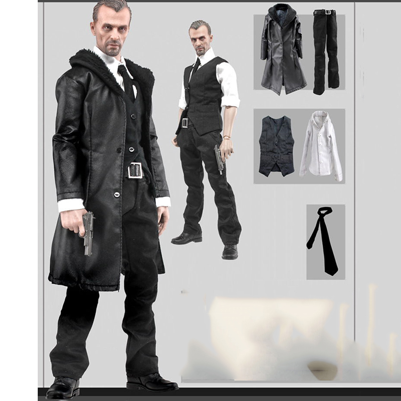 1 6 Male Leather Coat Suit Windbreaker Clothing Sets with Accessories for 12 39 39 Men Bodies Figures in Action amp Toy Figures from Toys amp Hobbies