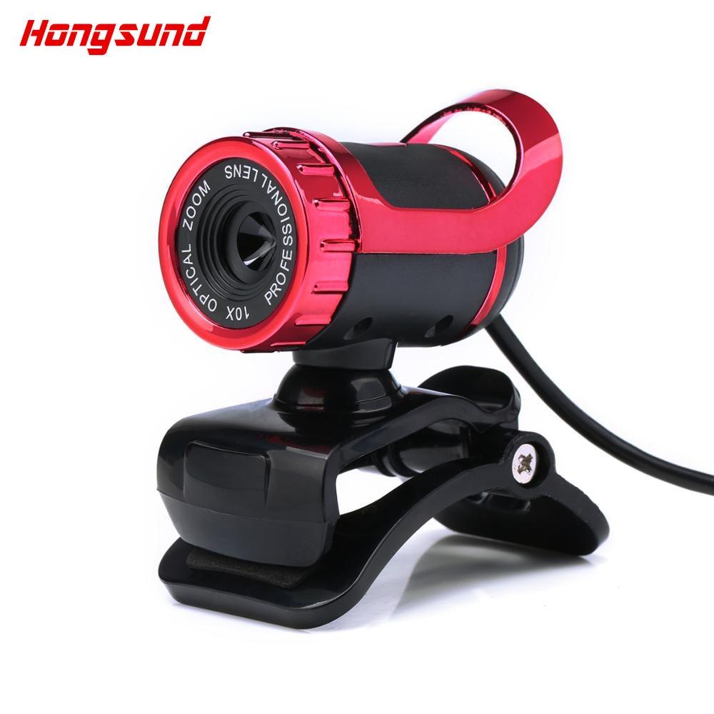 Hongsund USB 2.0 Webcam 12.0 Mega Pixel HD Camera Webcam 360 Degree MIC Clip-on for Skype Computer Laptop notebook