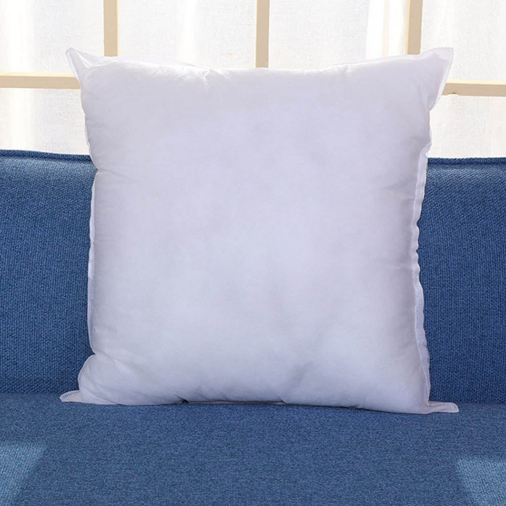 White Cushion Insert Soft for Car Sofa Chair Down Alternative Throw Pillow Core Inner Seat Cushion Filling 45cm Nonwovens Fabric