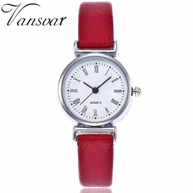 e468c5b35de Vansvar Mulheres Relógios 2018 Marca de Moda de Luxo Mulheres Relógio de Quartzo  Ocasional Pulseira de