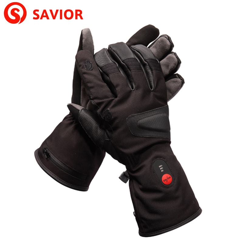 SAVIOR S-09 Heated Gloves Outdoor Sport Fishing Hiking Skiing Riding Hunting Temperature Adjusted Safe Voltage Men and Women savior s 16 lithium battery electric heating winter gloves for skiing riding cycling low temperature men women
