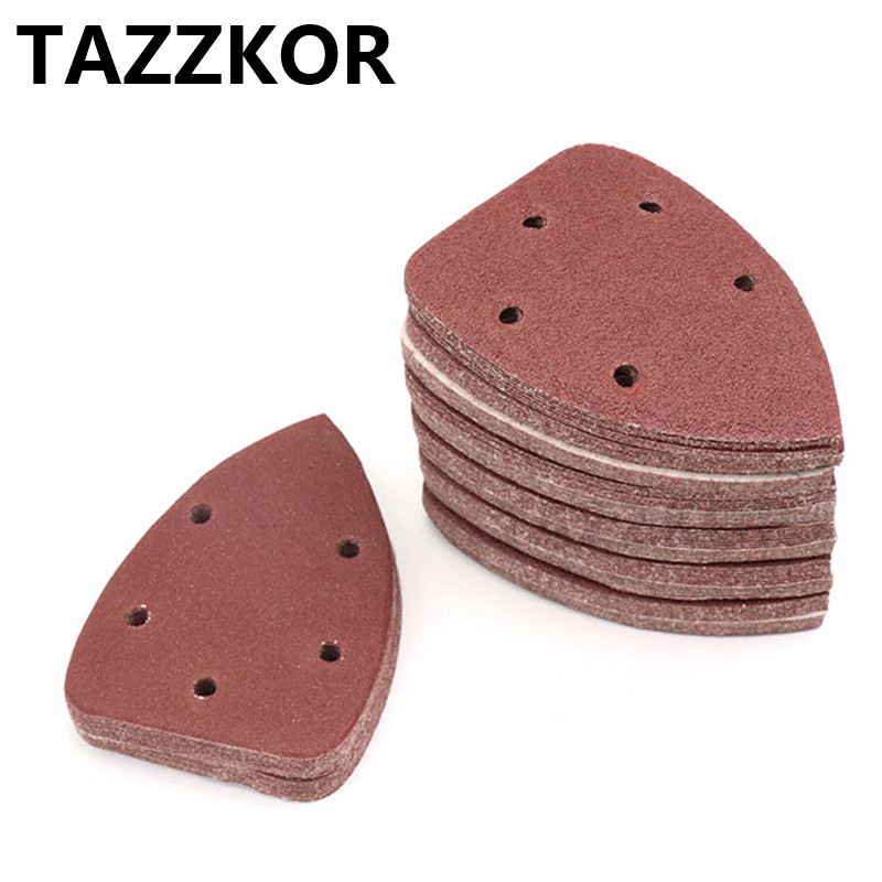 Triangle Sandpaper Grit Self-adhesive Sand Paper Sanding 40-400 Disc Abrasive Stone Glass Grinding For Wooding Polish Tool 10pcs