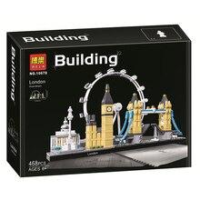 2017 New 468Pcs Architecture Figure Great Britain London Model Building Kit Blocks Bricks Girl Toy For Children Compatible 21034