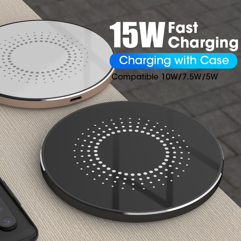SIKAI 15W Qi Wireless Charger For iPhone X Xr Quick Charging Dock For Airpods Limitless Charge Station For Xiaomi Mobile Phone image