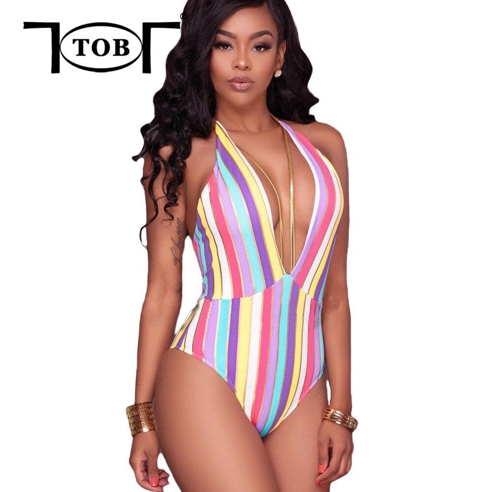 Tob Sexy Summer Swim Suit One Piece Gold Lust String Multi -6935