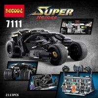 DIY 2113pcs Legoing Oversized Bat Car Batman The Combat Vehicle Bricks Giant Prison Building Blocks Compatible With Legoingly