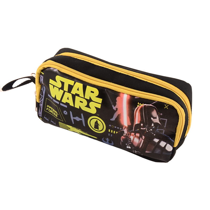 2016 new cute pencil case for boys high quality Star Wars pencil bag children cartoon school supplies stationery nylon estojo