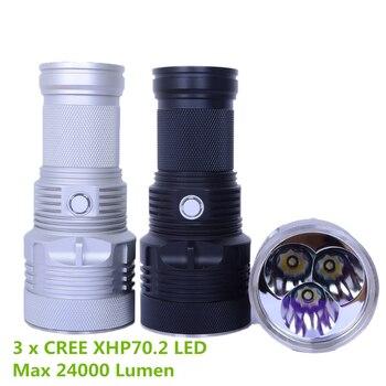 HaikeLite MT09R Flashlight CREE XHP70.2  max. 15000lm beam distance 550m CREE XHP35 Hi max. 7500lm beam distance 1050m torch Люмен