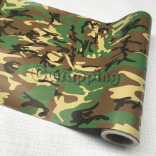 Matte Military Camo Film for Motorcycle Scooter Car Hood Roof Decal High Quality Woodland Green Camouflage Printed Vinyl