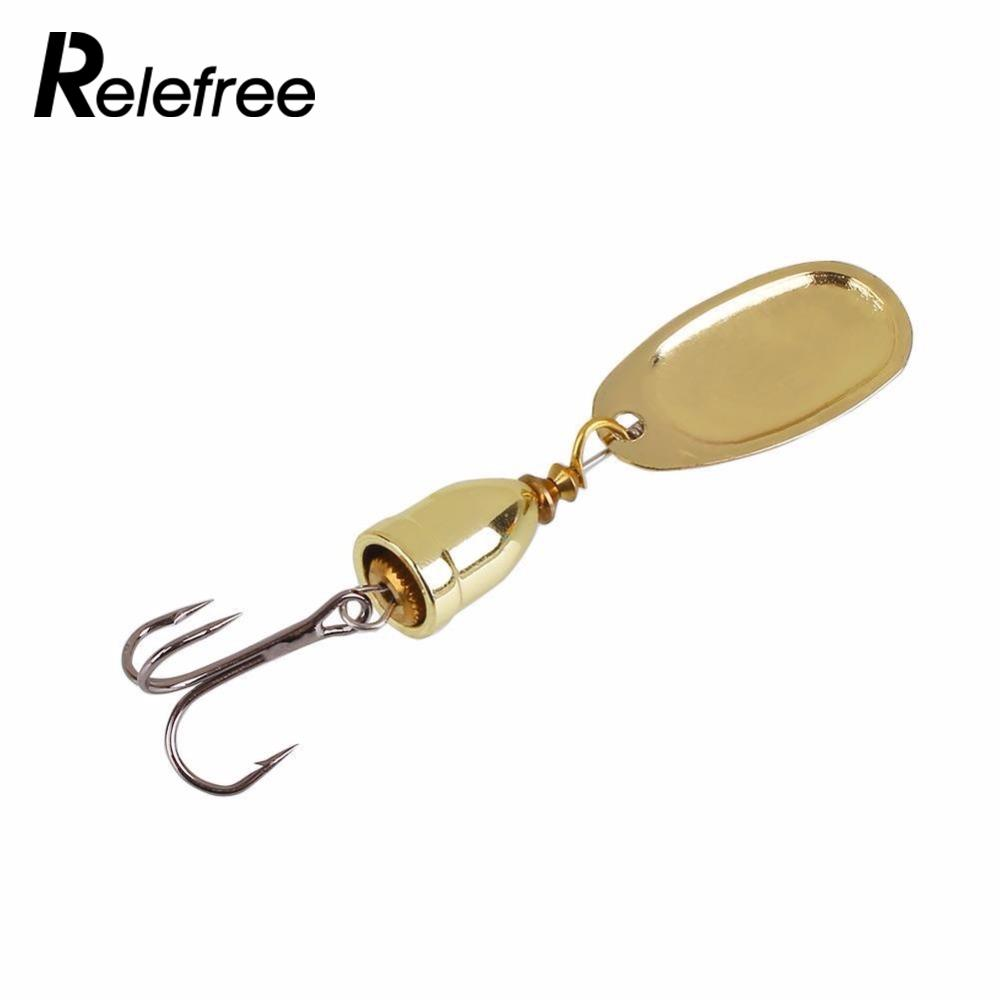 Relefree Hot Sale Metal Spinner Spoon Hard Bait Fish Treble Hook Perch Fishing Lures Tackle Vibration Hard Bait wldslure 1pc 54g minnow sea fishing crankbait bass hard bait tuna lures wobbler trolling lure treble hook