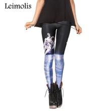 Spring Tenths adventure time punk rock hara  black milk push up fitness sexy 3d print Space astronaut women leggings sports
