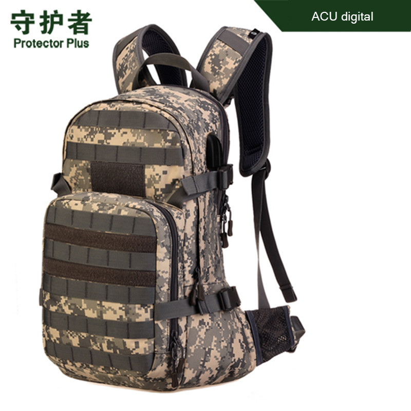 12 Liter Backpack Camouflage Military Double Shoulder Hiking Schoolbag Durable