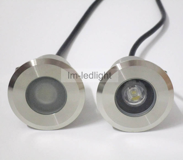 Recessed Led Floor Lights12v 1w Dia52mm Stainless Steel Focos Led