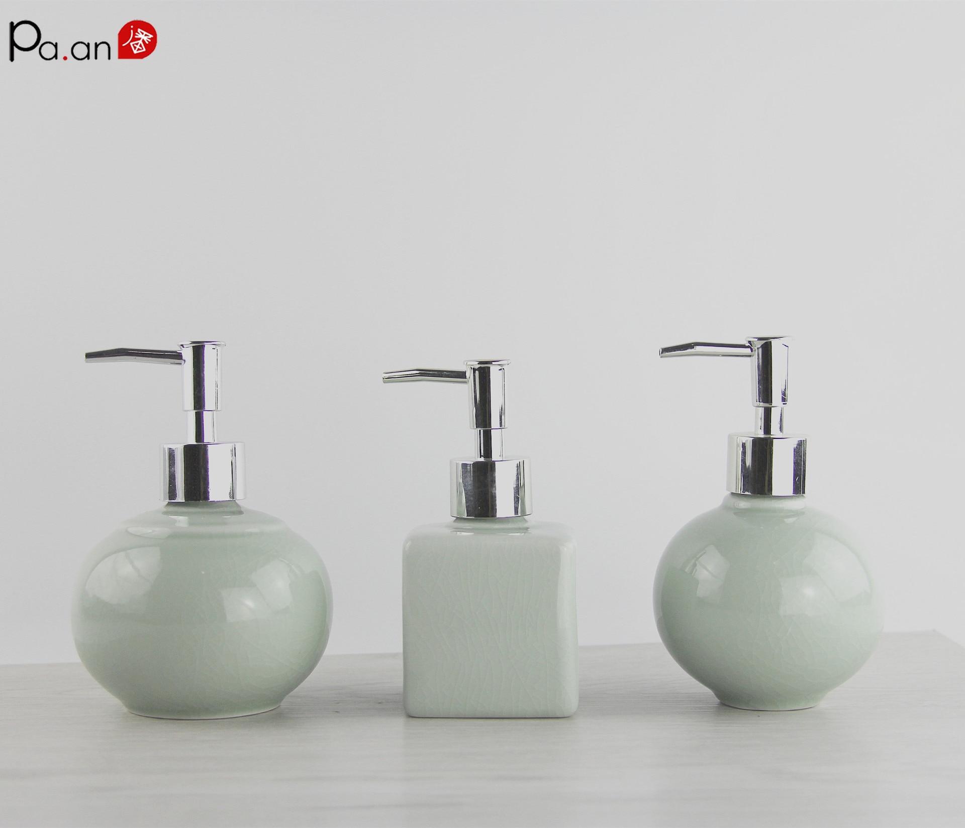 US $5.57 40% OFF|Vintage Porcelain Soap Dispenser Kitchen Sink Bathroom  Vanity Countertop Retro Liquid Cream Pump Bottle Ice Crack Best Gift-in  Liquid ...