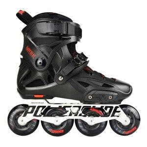 Image 1 - 100% Original 2018 Powerslide Imperial Inline Skates 전문 슬라럼 인라인 스케이트 롤러 무료 스케이트 신발 슬라이딩 Patines