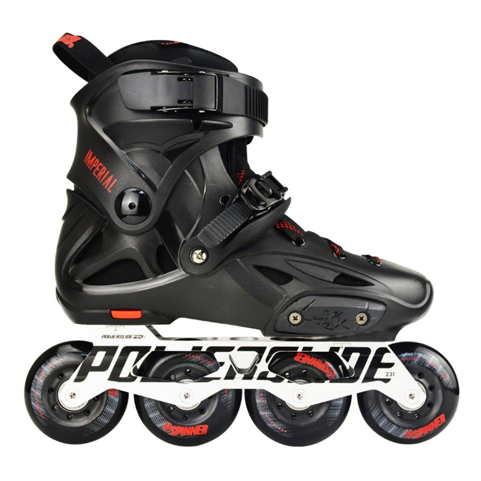 100% Original 2018 Powerslide Imperial patins à roues alignées Slalom professionnel patins à roues alignées patins à roulettes Patines coulissantes