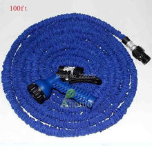 Flexible Hose Blue Water Garden Pipe With Spray Nozzle Garden Hose 100FT Magic Hose Sprayer Expandable Watering Hose
