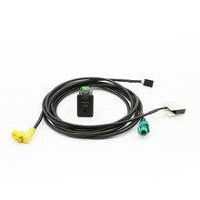 Car AUX USB Audio Cable Switch Plug Button for VW Passat B6 B7 CC Touran POLO Install RCD510+ RCD310+