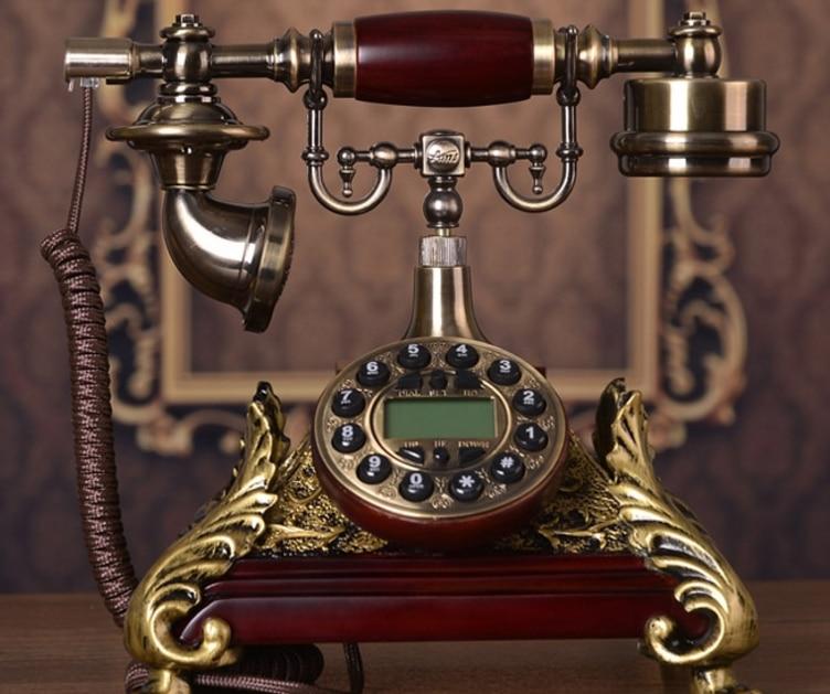 Fashion antique telephone rustic vintage telephone landline phone Blue Backlight Hands Free Caller ID