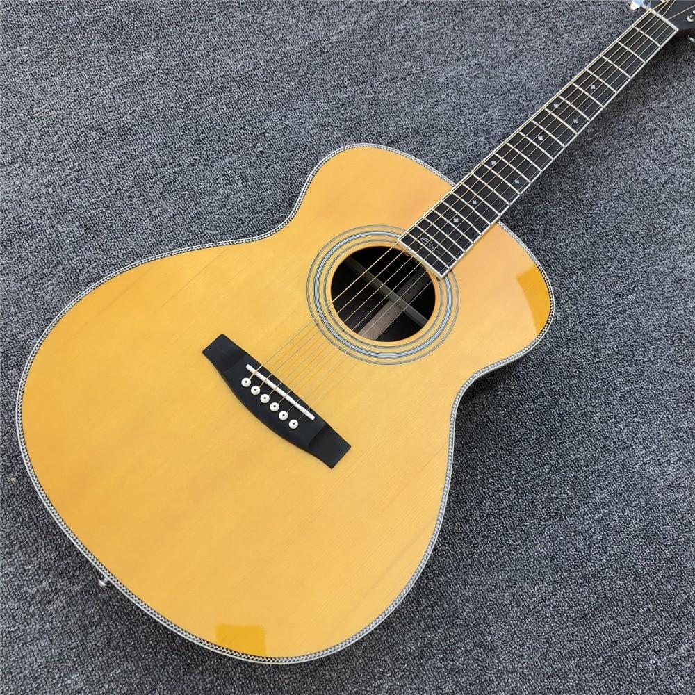 Custom OM Style Acoustic Guitar,Ebony Fingerboard AAA