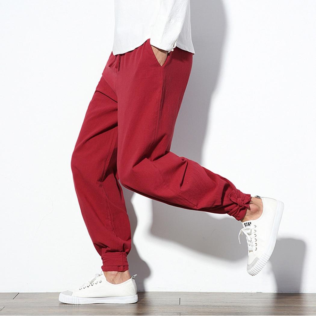 Harem Pants Trousers Male Loose Plus-Size Casual Fashion Harajuku Soft Chinese-Traditional