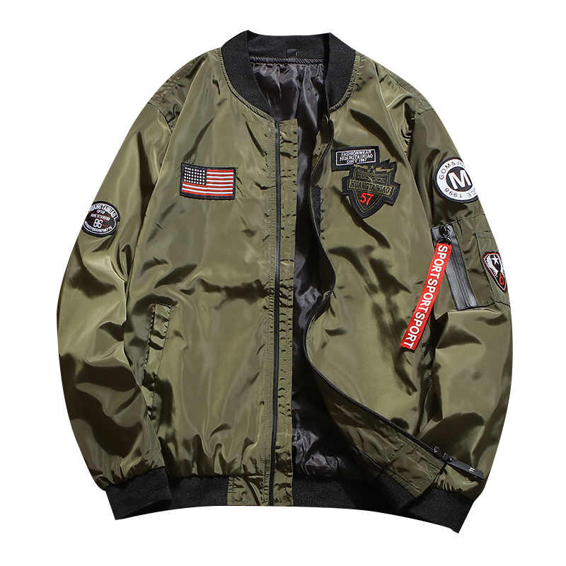 2019 Marka Erkek Bombacı Ceket Ince Erkekler Nakış beyzbol ceketleri Ceket Düz Renk Rahat Ceket Palto Erkek Hip Hop Giyim