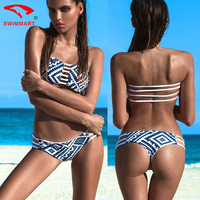 SWIMMART Hot Sexy Bikini Two Piece Swimsuit Bikini Split Swimsuit Low Waist Sexy Floral Swimwear Women