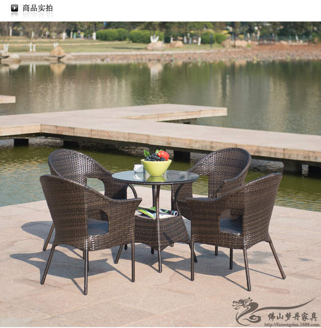 Online Shop Rattan Chair And Coffee Table Casual Outdoor Furniture