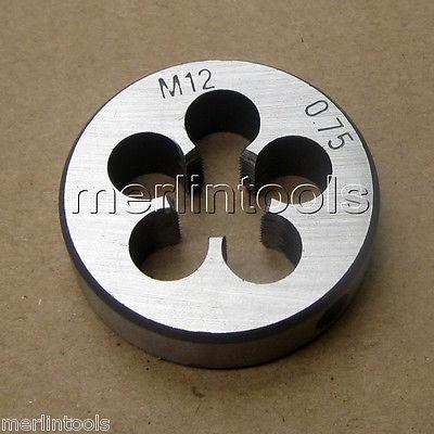 """Special DWTSMR1-12X.75 m12 X.75 1/"""" OD HSS Round Adjustable Die"""