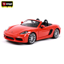 Bburago 1:24 Porsche BOXSTER manufacturer authorized simulation alloy car model crafts decoration collection toy tools цены онлайн