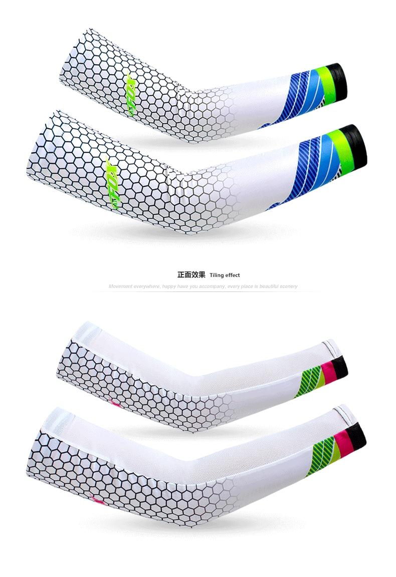 Летние ледяные вискозные волокна солнцезащитный крем эластичный рукав Открытый Велоспорт armguard Вождение Бег езда фигуры Длинные рукава