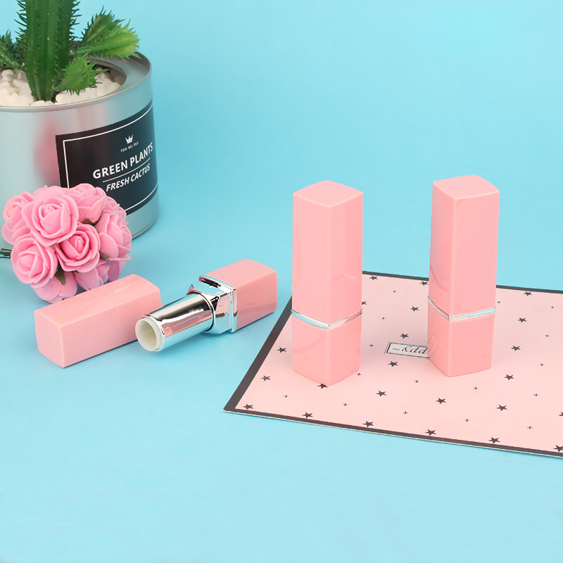 30/50PCS 12.1mm DIY Empty Lipstick Tube, New Arrival Pink Lip Balm Container, 12.1mm High Class Square Empty Lipstick Bottle high quality lipstick tube 12 1mm square metal diy empty coffee purple pink travel lipstick tube wholesale makeup tool packaging