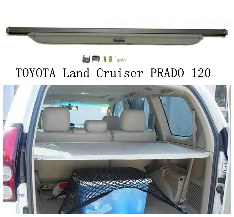 цена на Car Rear Trunk Security Shield Cargo Cover For TOYOTA Land Cruiser PRADO 120 2003 04 05 06 07 08 2009 High Qualit Accessories