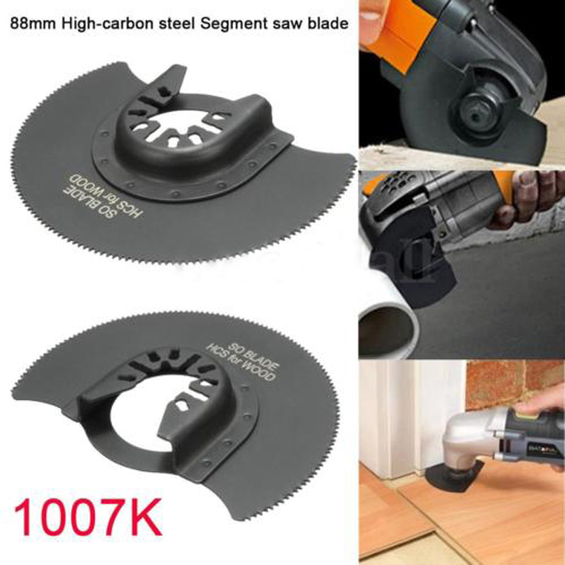 HCS 88mm Oscillating Multi Tools Segment Saw Blade For Multimaster Fein Dremel Renovator Power Tool For Wood Metal Cutting