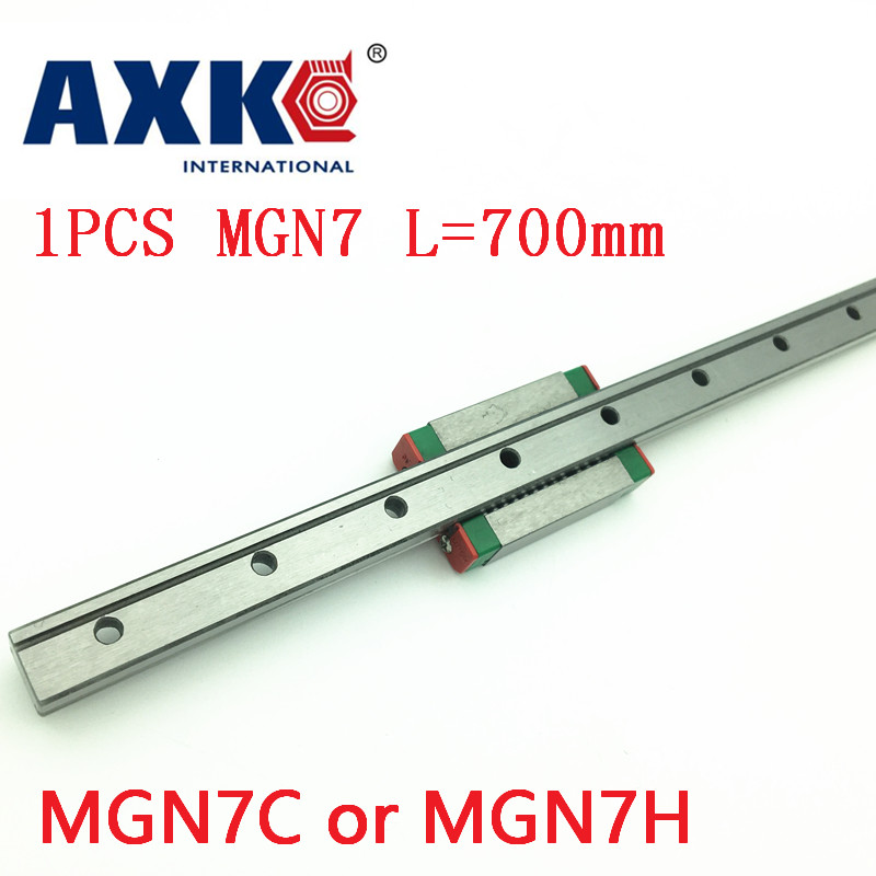 2019 MGN7 AXK linéaire pour 7mm Guide linéaire Mgn7 L = 700mm voie de Rail linéaire + Mgn7c ou Mgn7h Long chariot linéaire pour CNC X axe Z Y