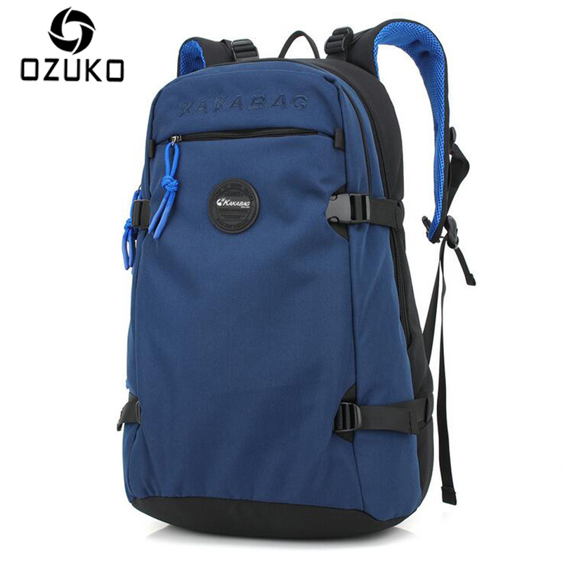 OZUKO Simple Style Business Casual Men Backpack School Bag Women Travel Bag 15.6 inch Laptop Backpacks Waterproof Oxford Mochila voyjoy t 530 travel bag backpack men high capacity 15 inch laptop notebook mochila waterproof for school teenagers students